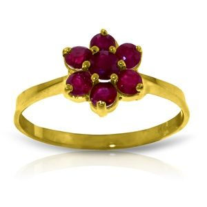 14K. SOLID GOLD RING WITH NATURAL RUBIES